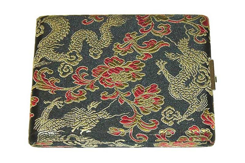 10-Reed Tenor Sax Reed Case, double-sided - Black with Gold Dragon Design