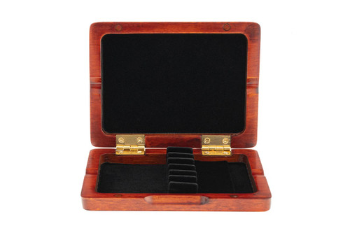 6-Reed Slimline Wood Oboe Reed Cases by Oboes.ch - stained