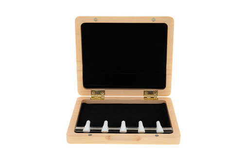 5-Reed Wood Bassoon Reed Cases by Oboes.ch - Natural