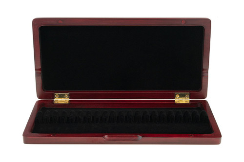 10-Reed Slimline Wood Oboe Reed Cases by Oboes.ch - padauk