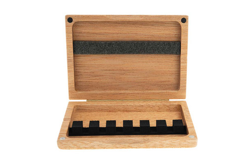 6-Reed Bassoon Reed Case by Reeds 'n Stuff, with Mandrels, Light Mahogany