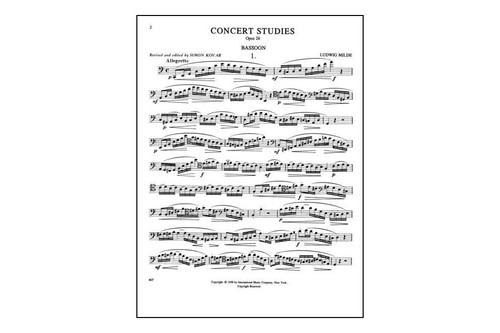 Milde Concert Studies, Op. 26 for Bassoon, Vol. 1, Nos. 1-25