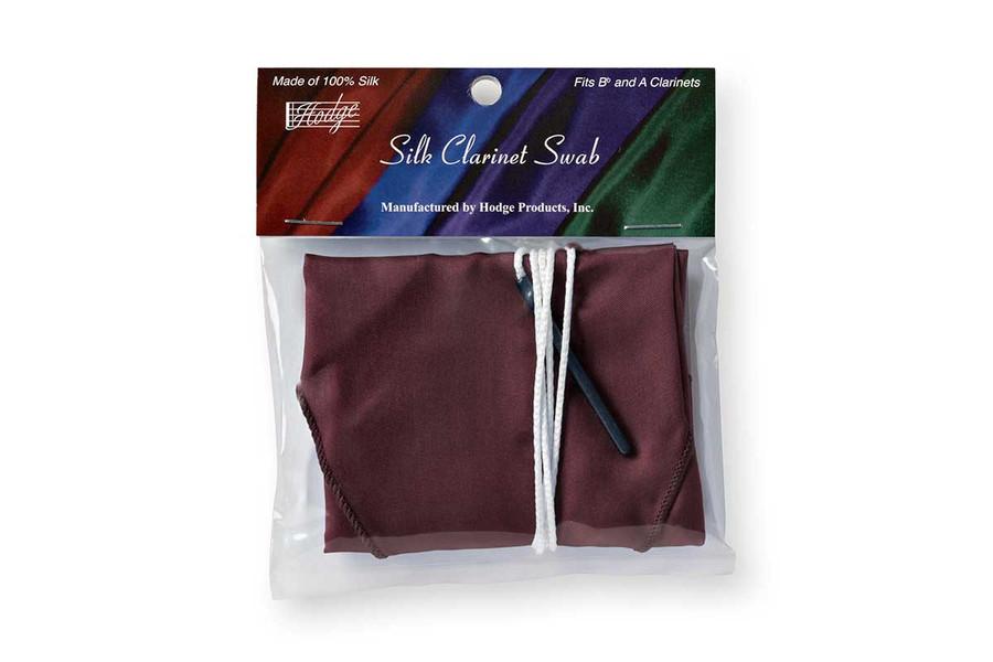 Hodge Silk Clarinet Swab - Burgundy
