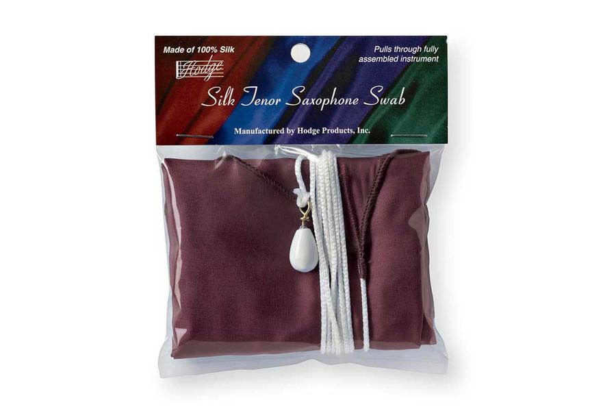 Hodge Silk Tenor Saxophone Swab - Burgundy