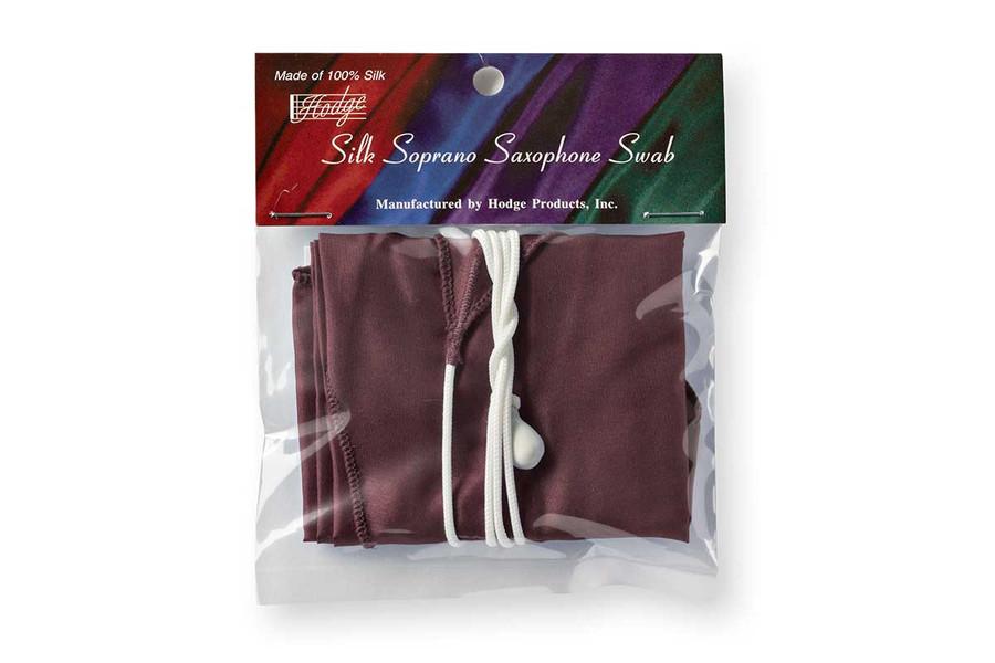 Hodge Silk Soprano Sax Swab - Burgundy