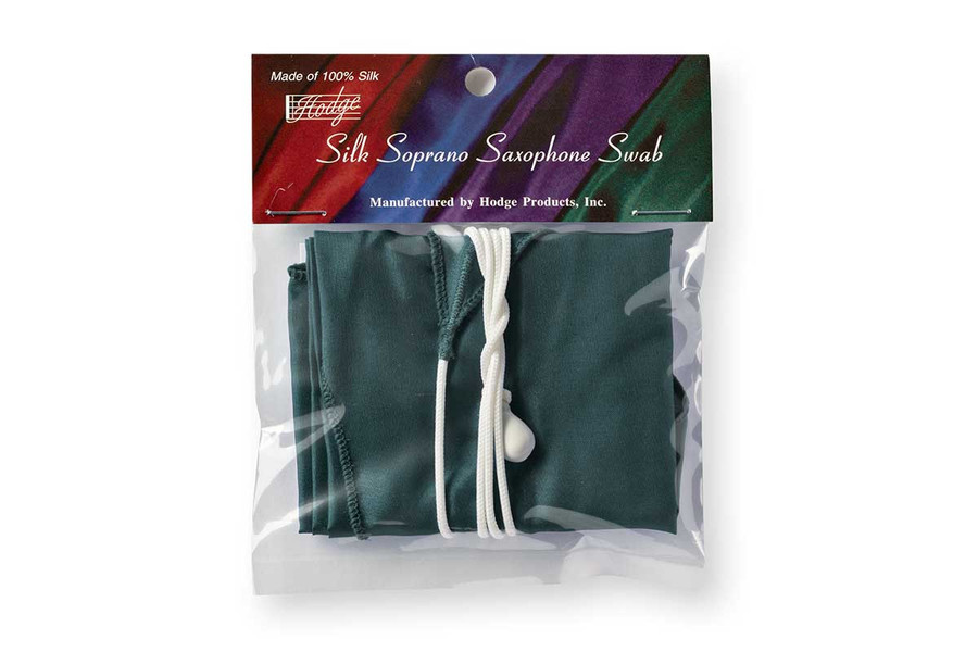 Hodge Silk Soprano Sax Swab - Forest Green