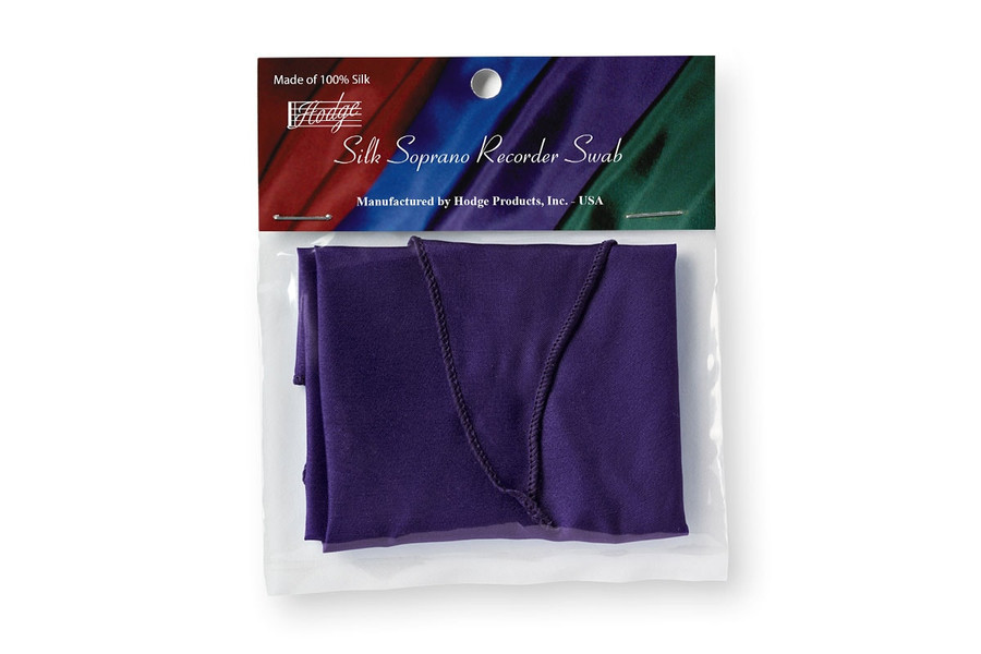 Hodge Silk Soprano Recorder Swab - Deep Purple