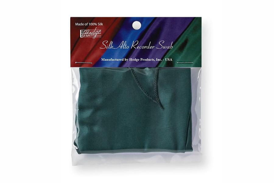 Hodge Silk Alto Recorder Swab - Forest Green