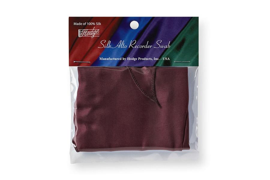 Hodge Silk Alto Recorder Swab - Burgundy