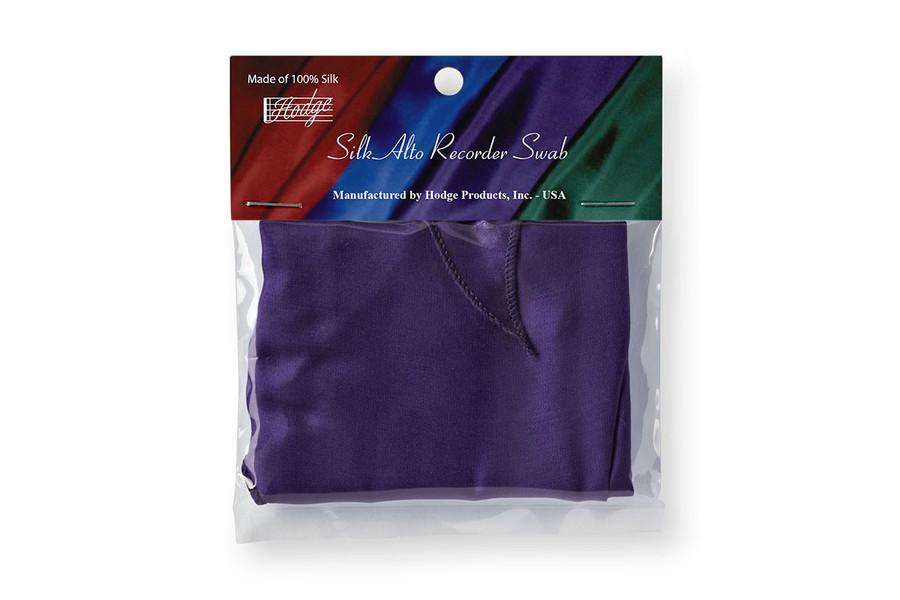 Hodge Silk Alto Recorder Swab - Deep Purple