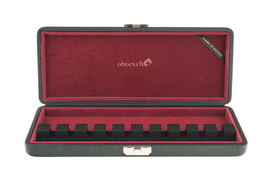 10-Reed Bassoon Reed Cases in leather by Oboes.ch