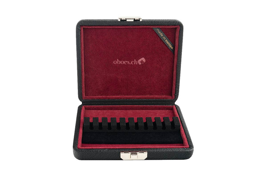10-Reed Oboe Reed Case by Oboes.ch in Leather - made in Europe model