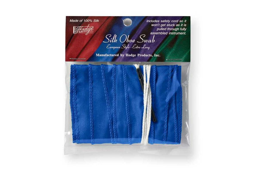 Hodge Silk Long Oboe Swab - European-style - Royal Blue