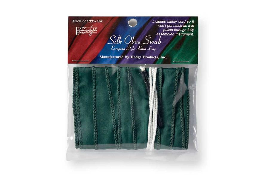 Hodge Silk Long Oboe Swab - European-style - Forest Green
