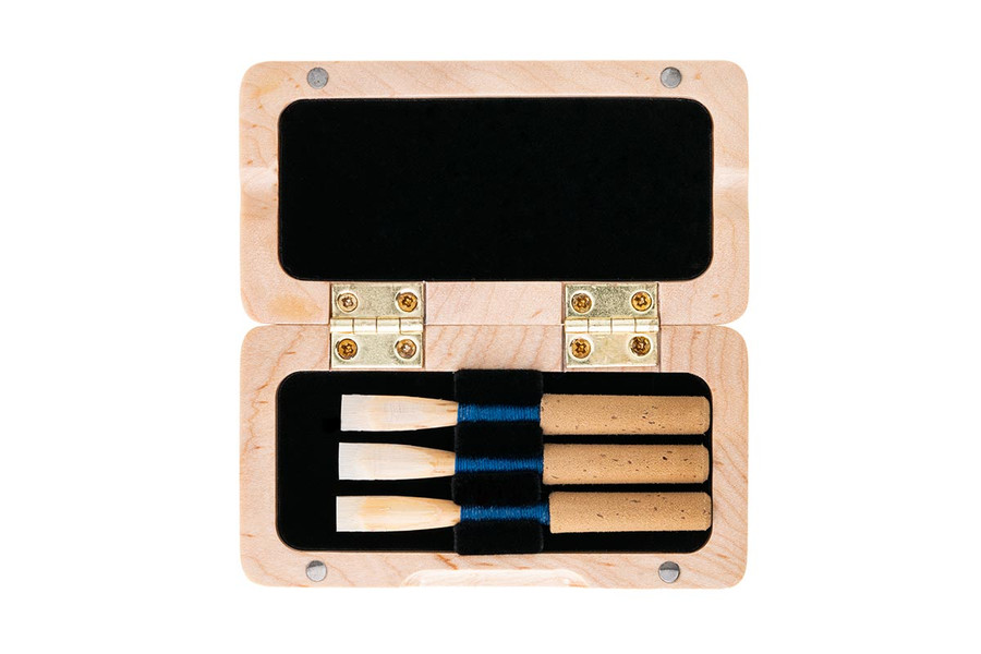 3-Reed Slimline Wood Oboe Reed Case by Oboes.ch - Natural