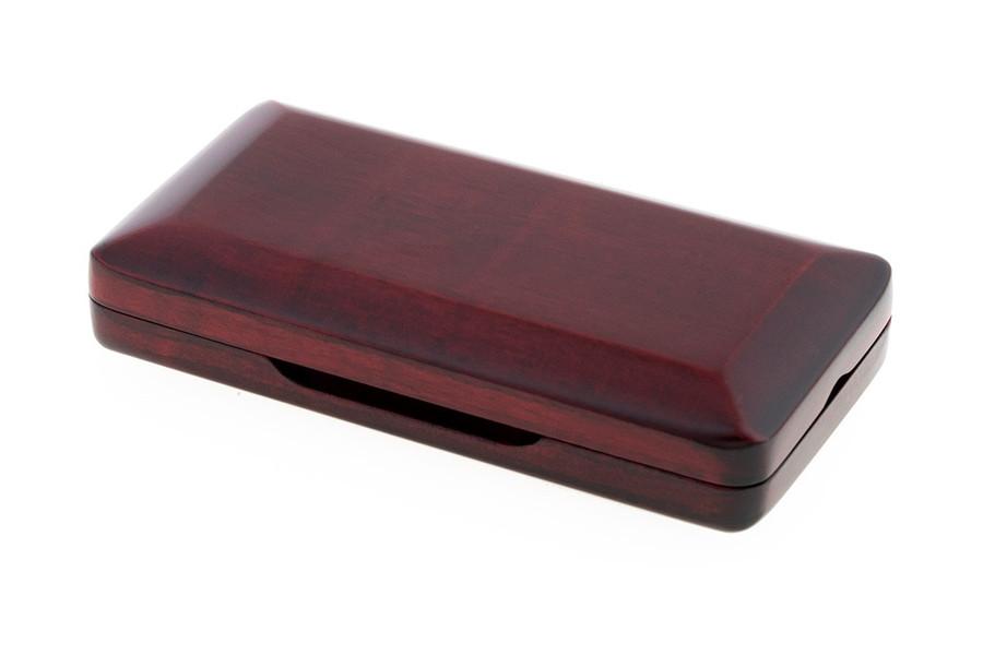 3-Reed Slimline Wood Oboe Reed Case by Oboes.ch - padauk