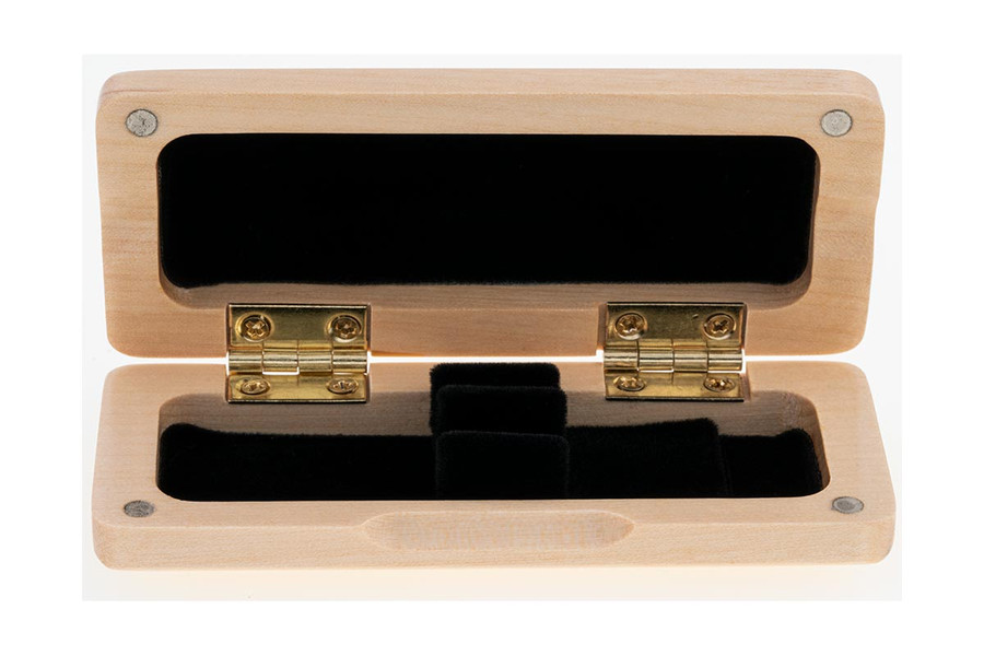 2-Reed Slimline Wood Oboe Reed Cases by Oboes.ch - natural