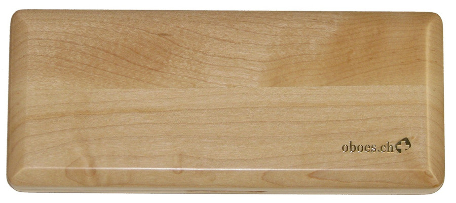 10-Reed Slimline Wood Bassoon Reed Cases by Oboes.ch - natural