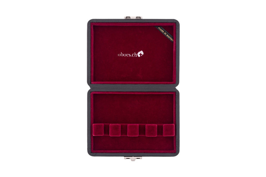 4-Reed Contrabassoon Reed Case - Leather