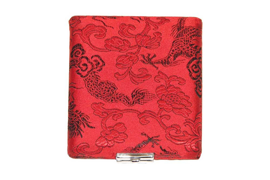 8-Reed Doublesided Alto Sax-Clarinet Reed Case - Red with Black Dragon Design