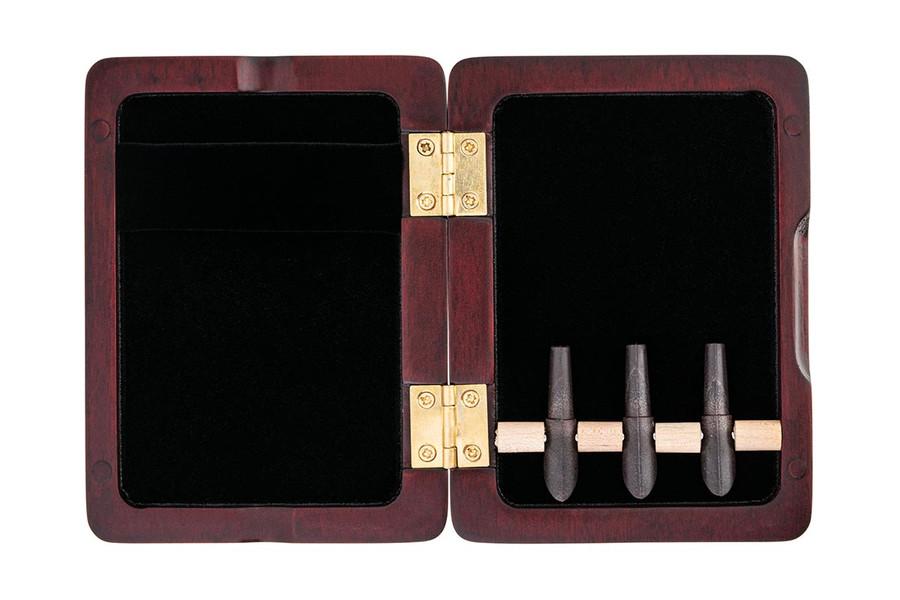 3-Reed Bassoon Reed Case with Mandrels - Padauk