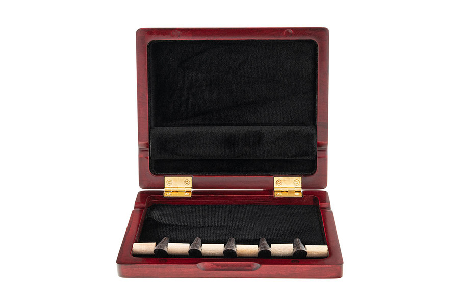 5-Reed Wood Bassoon Reed Cases by Oboes.ch - Padauk