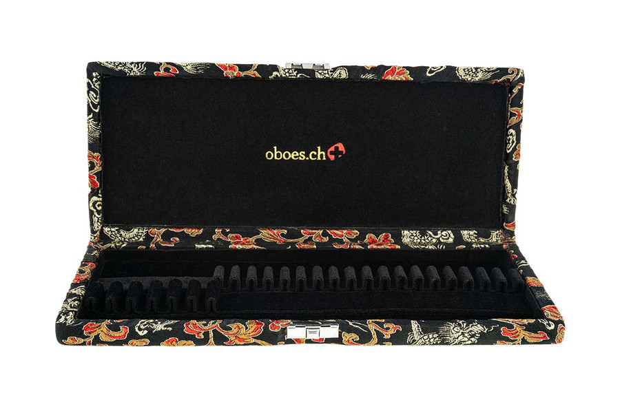 6 English Horn/18 Oboe Reed Case - Black with Gold Dragon