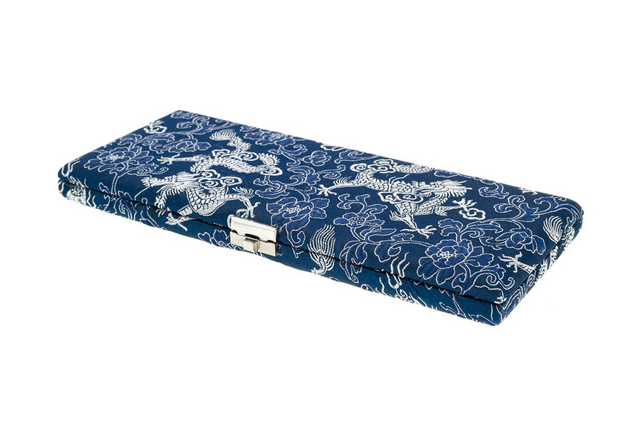 6 English Horn/18 Oboe Reed Case - Blue with Silver Dragon