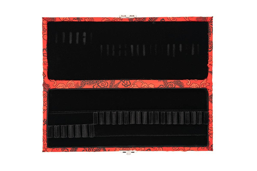 6 English Horn/18 Oboe Reed Case - Red with Black Dragon