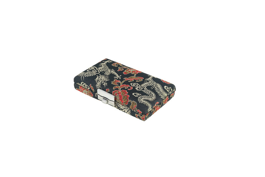 4-Reed Oboe Reed Cases with clips by Oboes.ch - Black with Gold Dragon Design