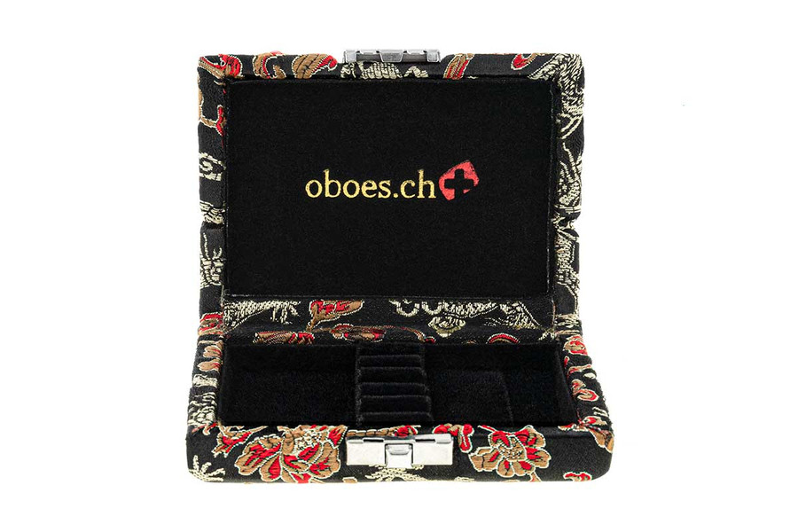 6-Reed Oboe Reed Case - Black with Gold Dragon Design