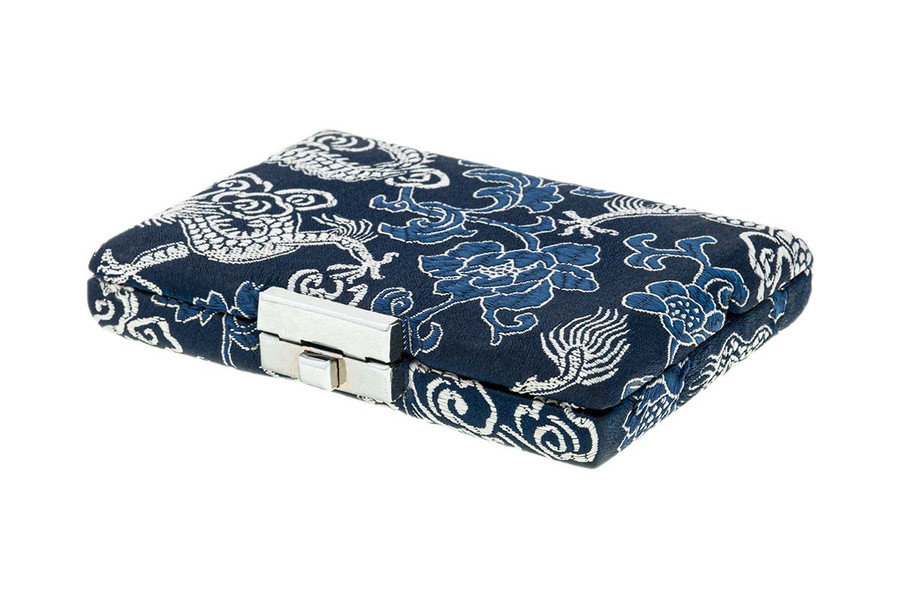 6-Reed Oboe Reed Case - Blue with Silver Dragon Design