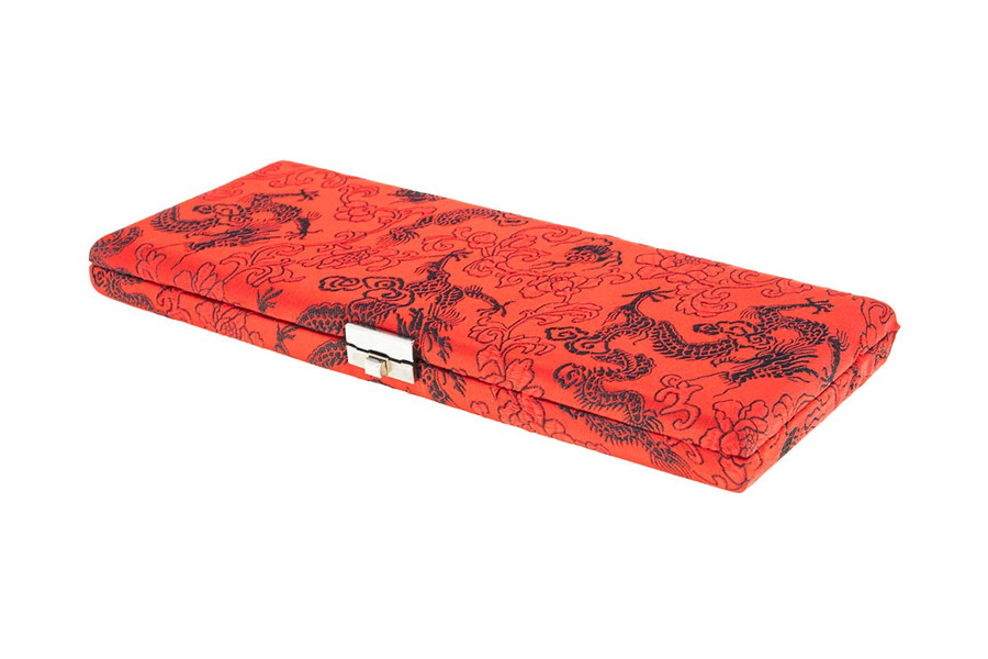 25-Reed Oboe Reed Case, Silk by Oboes.ch - Red with Black Dragon Design