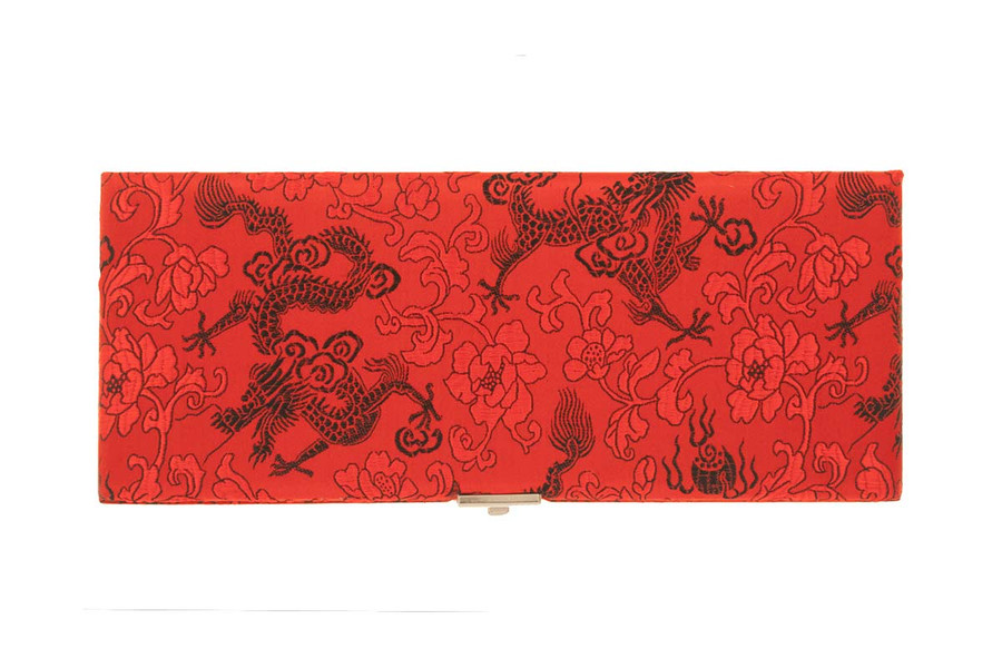 50-reed oboe reed case by oboes.ch - Red with Black Dragon Design