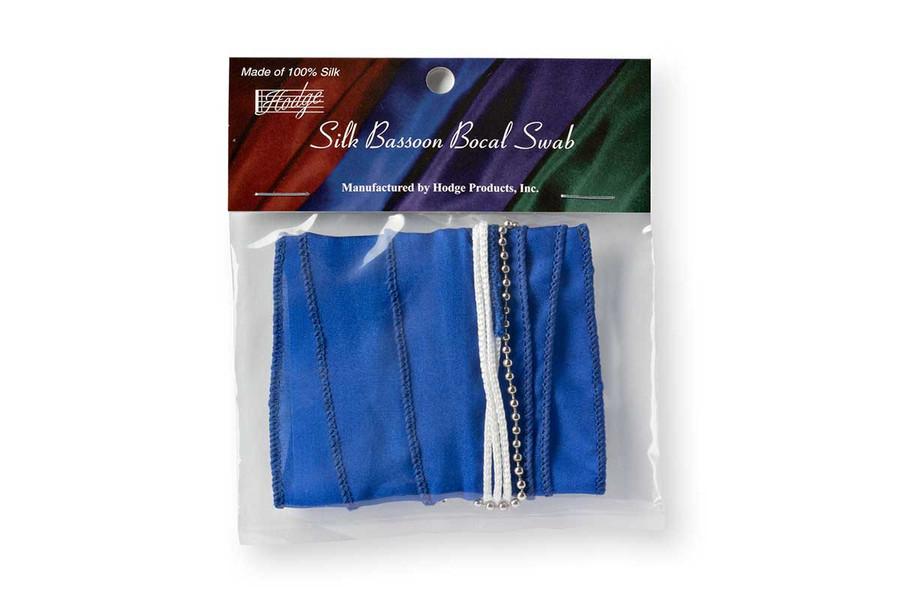 Hodge Silk Bassoon Bocal Swab - Royal Blue