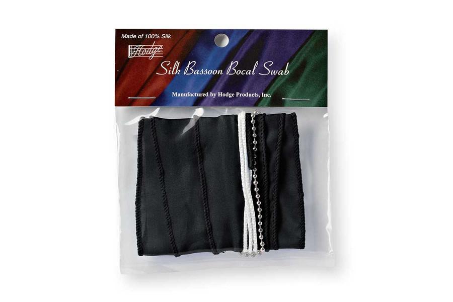 Hodge Silk Bassoon Bocal Swab - Performers Black