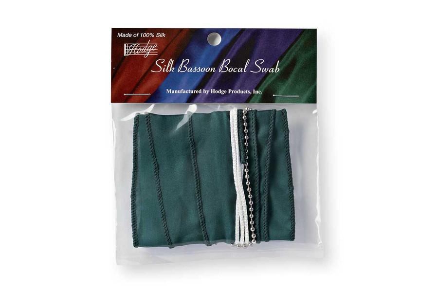 Hodge Silk Bassoon Bocal Swab - Forest Green
