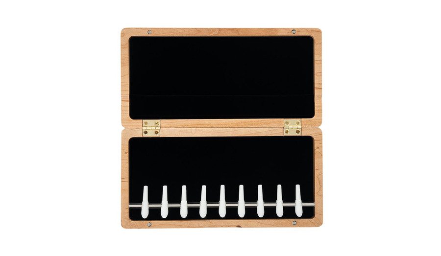 9-Reed Wood Bassoon Reed Cases with Mandrels by Oboes.ch Natural