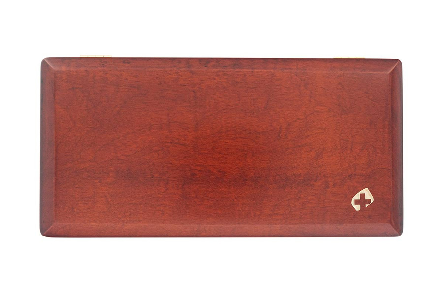 9-Reed Wood Bassoon Reed Cases with Mandrels by Oboes.ch Stained