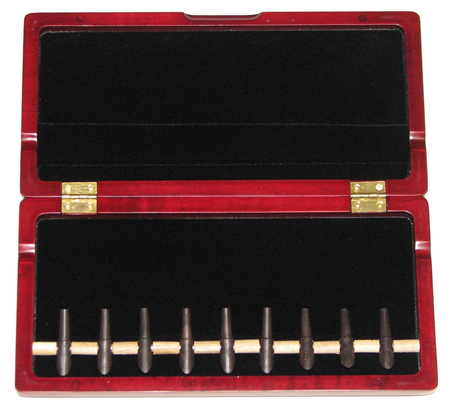 9-Reed Wood Bassoon Reed Cases with Mandrels by Oboes.ch Padauk