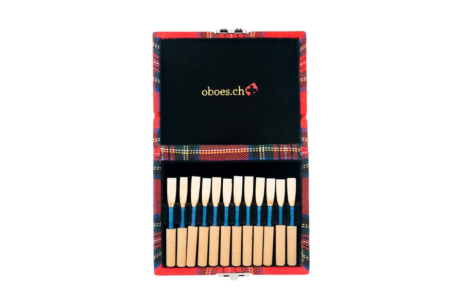12-Reed Oboe Reed Cases by Oboes.ch - Scotch Fabric