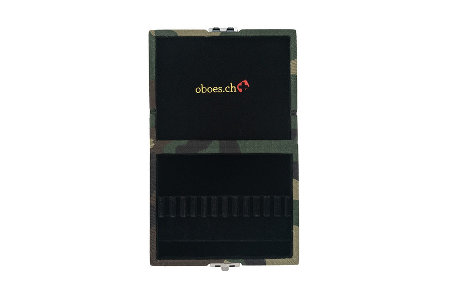 12-Reed Oboe Reed Cases by Oboes.ch - camo fabric