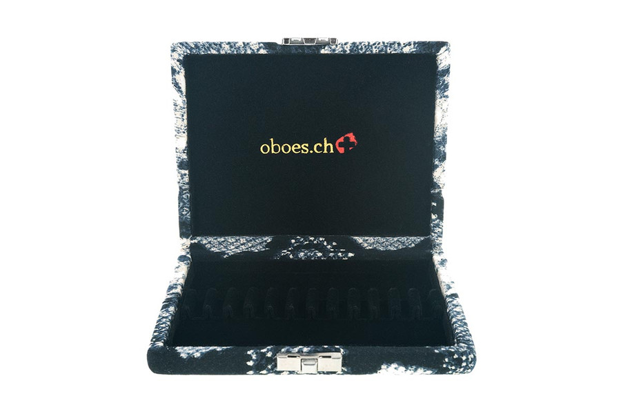 12-Reed Oboe Reed Cases by Oboes.ch - snakeskin fabric