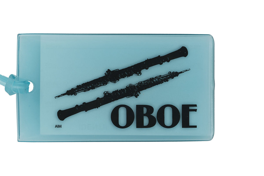 Oboe soft rubber ID Tag - Blue