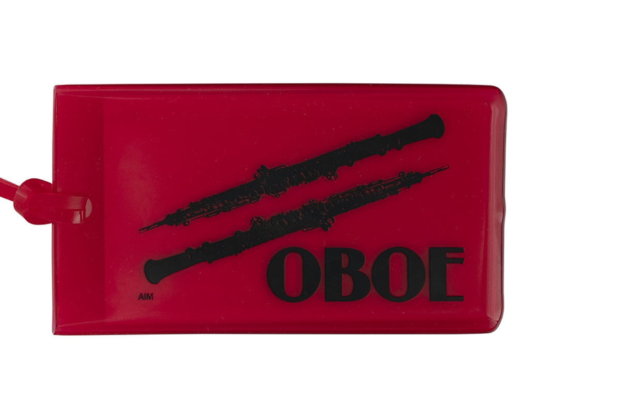 Oboe soft rubber ID Tag - Red