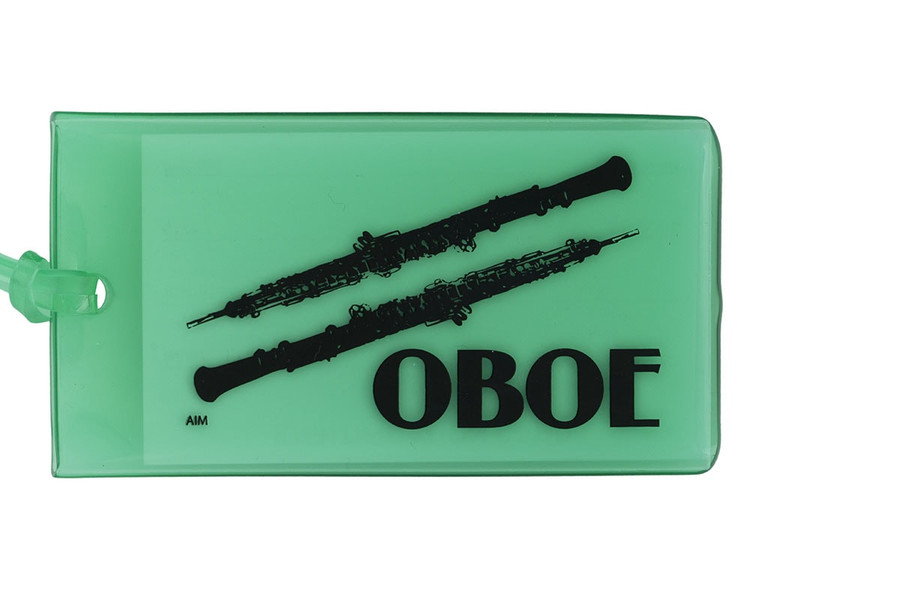 Oboe soft rubber ID Tag - Green