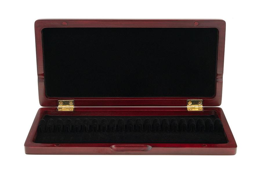 10-Reed Slimline Wood Oboe Reed Cases by Oboes.ch - padauk
