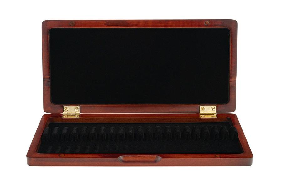 10-Reed Slimline Wood Oboe Reed Cases by Oboes.ch - brown stain