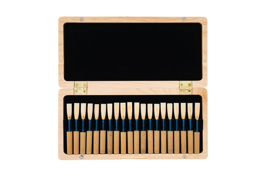 Open Oboes.ch 20-reed ribbon-style oboe reed case - natural