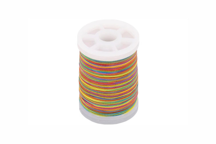 LC Nylon Thread, FF, 165 yds - Rainbow Variegated